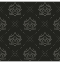 Seamless black old style pattern vector