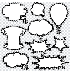Speech bubble set comics retro design vector