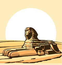 Sphinx ancient statue vector