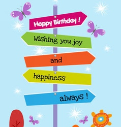 The Right Happy birthday Direction vector image