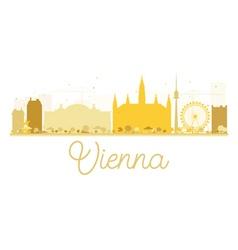 Vienna city skyline golden silhouette vector