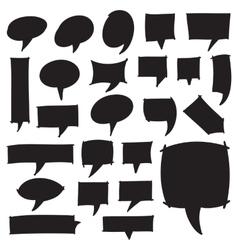 Marker speech bubbles vector