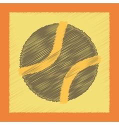 flat shading style icon dog toy ball vector image
