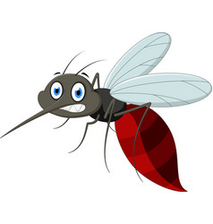 Angry mosquito cartoo vector