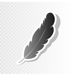 feather sign   new year vector image