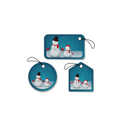 Set of christmas bubbles stickers and labels vector