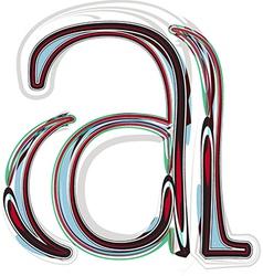 Font letter a vector