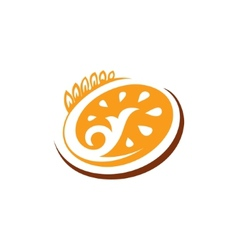 Abstract sign bakery bread vector