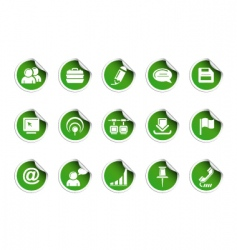 Web icons  sticky series vector