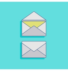 With mails in flat style design vector
