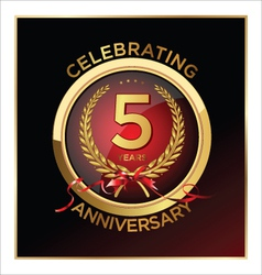 5 years anniversary label vector