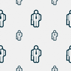 Businessman icon sign seamless pattern with vector