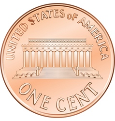 american one cent coin vector image