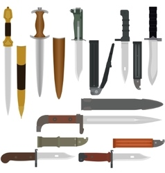 Battle edged weapons vector