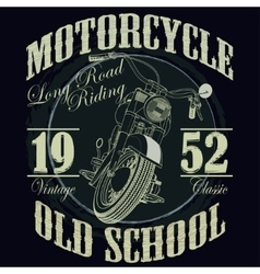 Motorcycle racing typography graphics racing t vector