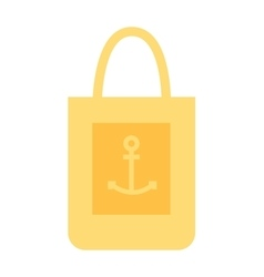 Summer bag icon isolated on white background vector