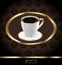 Vintage coffee packaging background vector