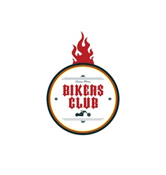 Vintage motorcycle badge theme vector