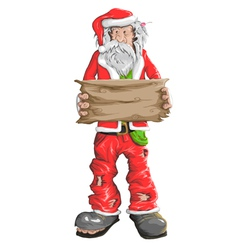 Homeless santa claus vector
