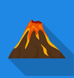 a fiery volcanoa mountain in which there is a vector image