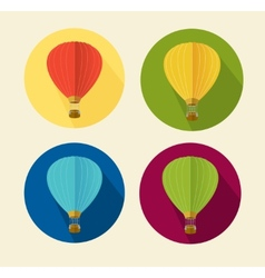 Air ballon icon set flat vector