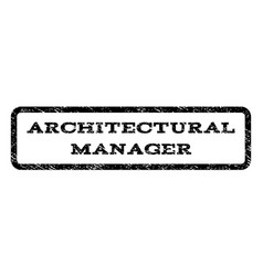 Architectural manager watermark stamp vector