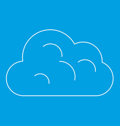 Big Cloud Icon Outline Style Royalty Free Vector Image