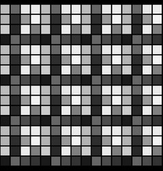 Black white mosaic seamless pattern background vector