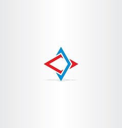 Blue red abstract business technology logo vector