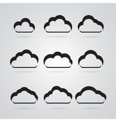 collection of grey clouds vector image