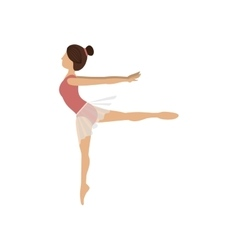 colorful dancer pose fourth arabesque vector image vector image