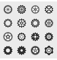 Different types of gears vector image