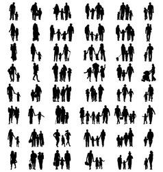 families at walking vector image vector image