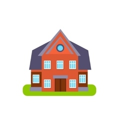Family cotage suburban house exterior design vector