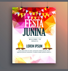 Festa junina celebration party poster design vector
