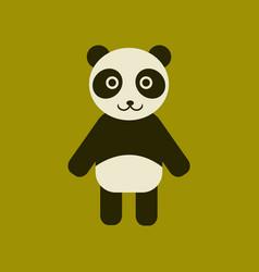 Flat icon stylish background panda bear vector