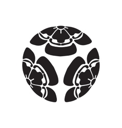 Flowers melon survival symbol in japan vector