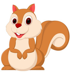 happy squirrel cartoon vector image