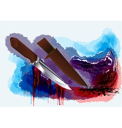 hunting knife vector image vector image