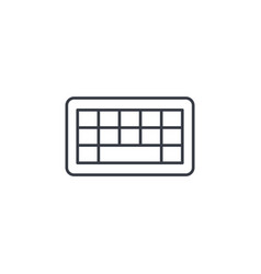 Keyboard buttons thin line icon linear vector