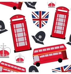 Landmarks icon set United kingdom design vector image vector image