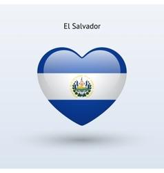 Love el salvador symbol heart flag icon vector