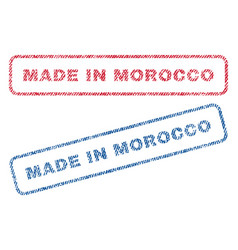 Made in morocco textile stamps vector
