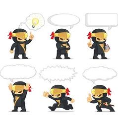 Ninja Customizable Mascot 20 vector image vector image