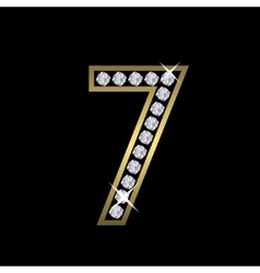 Number seven sign vector
