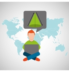 online training education-student geometry vector image