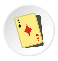 playing card icon circle vector image vector image