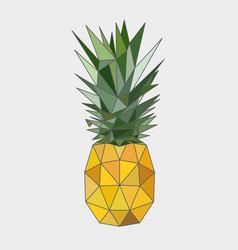 Polygonal pineapple fruit vector