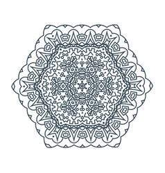 Round mandala vector