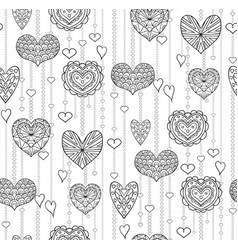 seamless black and white texture with hanging vector image